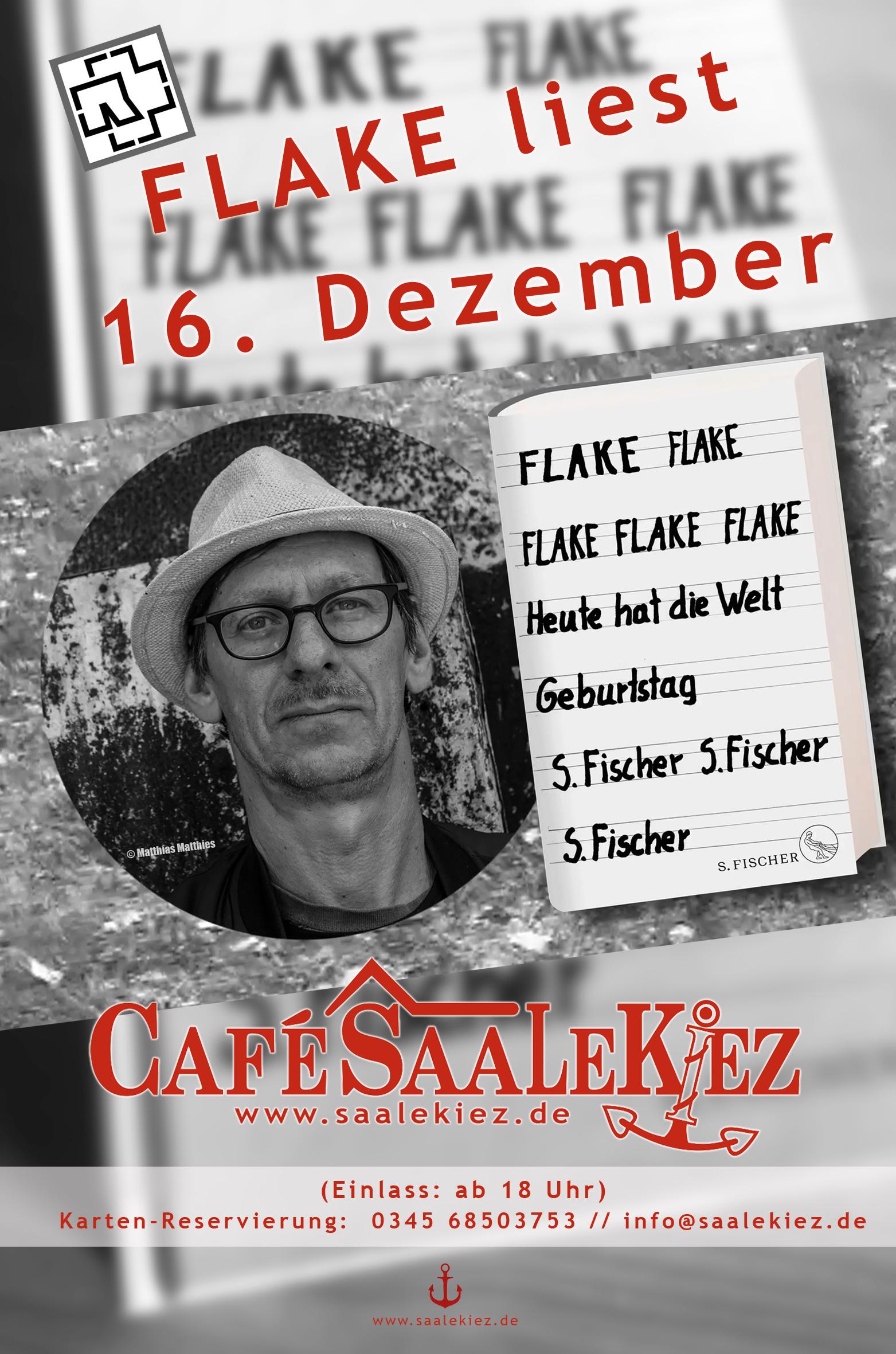 FLAKE liest - Café Saalekiez