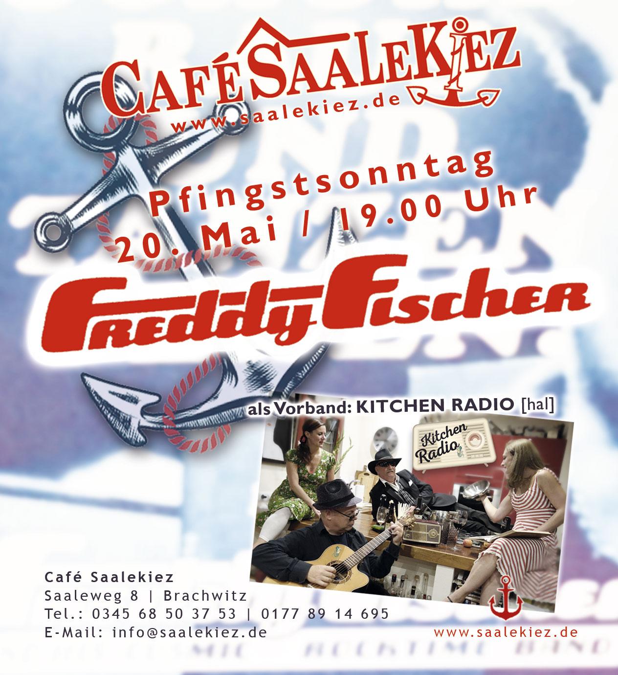 Freddy Fischer im Saalekiez, Supportband Kitchen Radio aus Halle