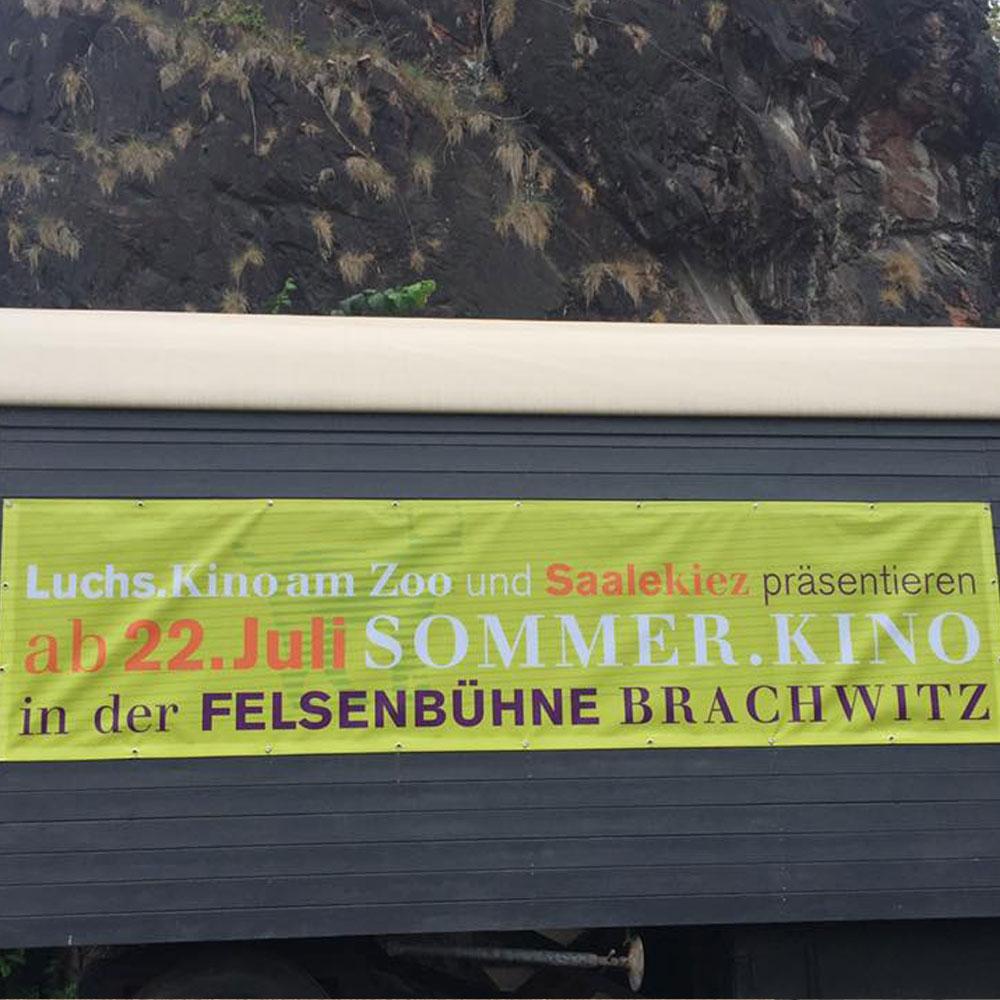 Sommerkino Felsenbühne im Saalekiez