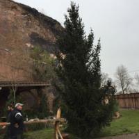 Saalekiez Felsenbühne Aufstellung Weihnachtsbaum Weihnachten 2017
