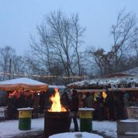 Saalekiez Felsenbühne Winter